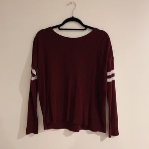 Cute maroon sweater from American Eagle!